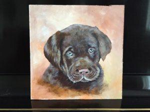 acrylic painting-dog by kauthy kautz