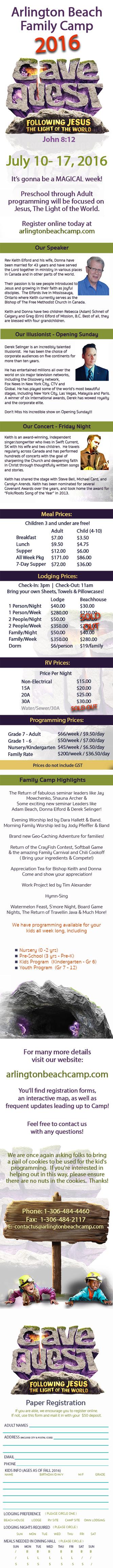 Arlington Beach Family Camp 2016