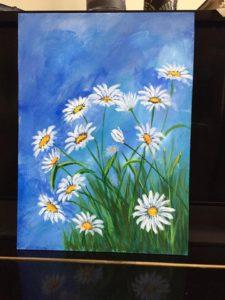 acrylic painting - flowers by kathy kautz