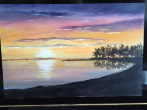 beach painting by kathy kautz